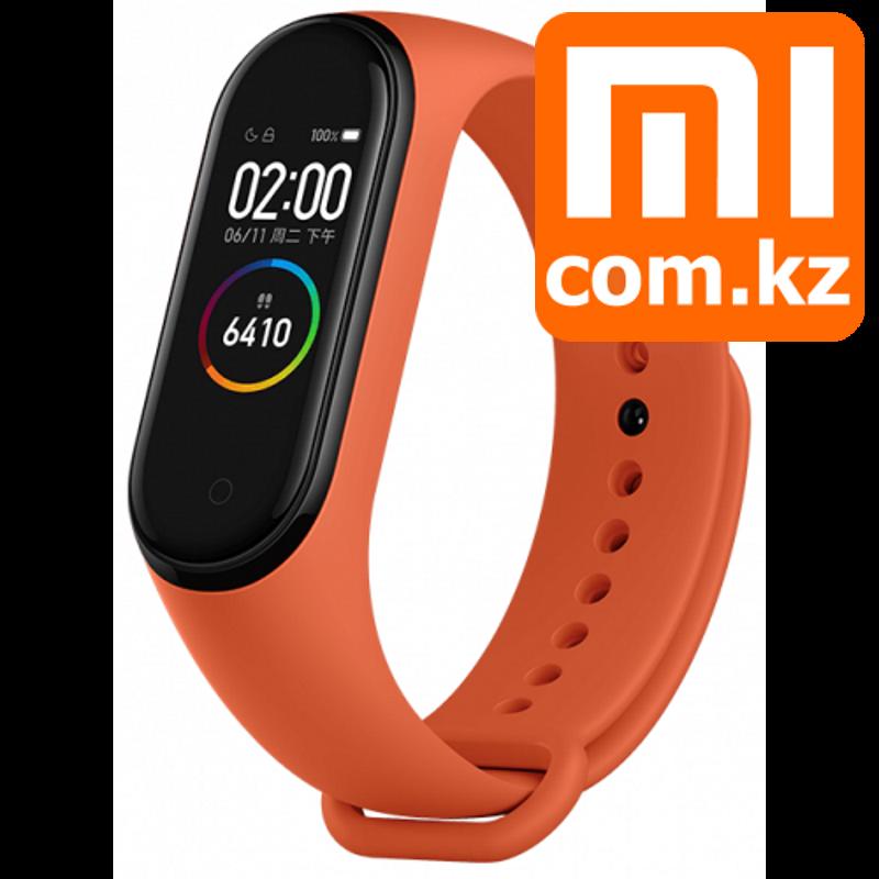 Фитнес-браслет v4.0 Xiaomi Mi MIBand 4 Orange оранжевый, с дисплеем и пульсометром. Оригинал. - фото 1