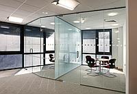Изготовление офисных перегородок из стекла Цельностеклянные