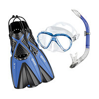 Комплект ласты, маска, трубка MARES X-ONE MAREA BLUE