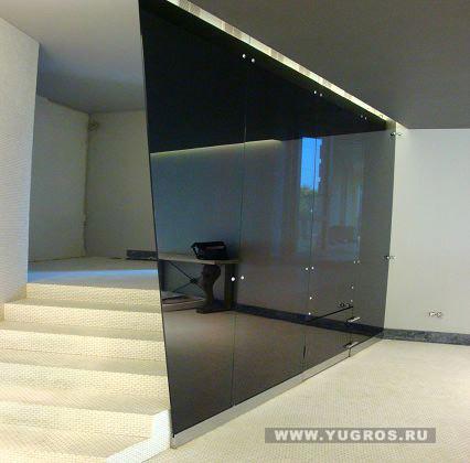 Изготовление и установка стеклянной перегородки из стекла в офис