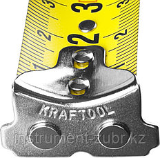 Рулетка KRAFTOOL GRAND, обрезиненный пластиковый корпус, 5м/25мм, фото 3