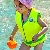 Детский жилет для плавания желтый с зеленым