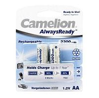 Аккумуляторная батарейка Camelion AA NH-AA2300ARBP2, AlwaysReady Rechargeable, 1.2V, 2300 mAh (2 шт.)