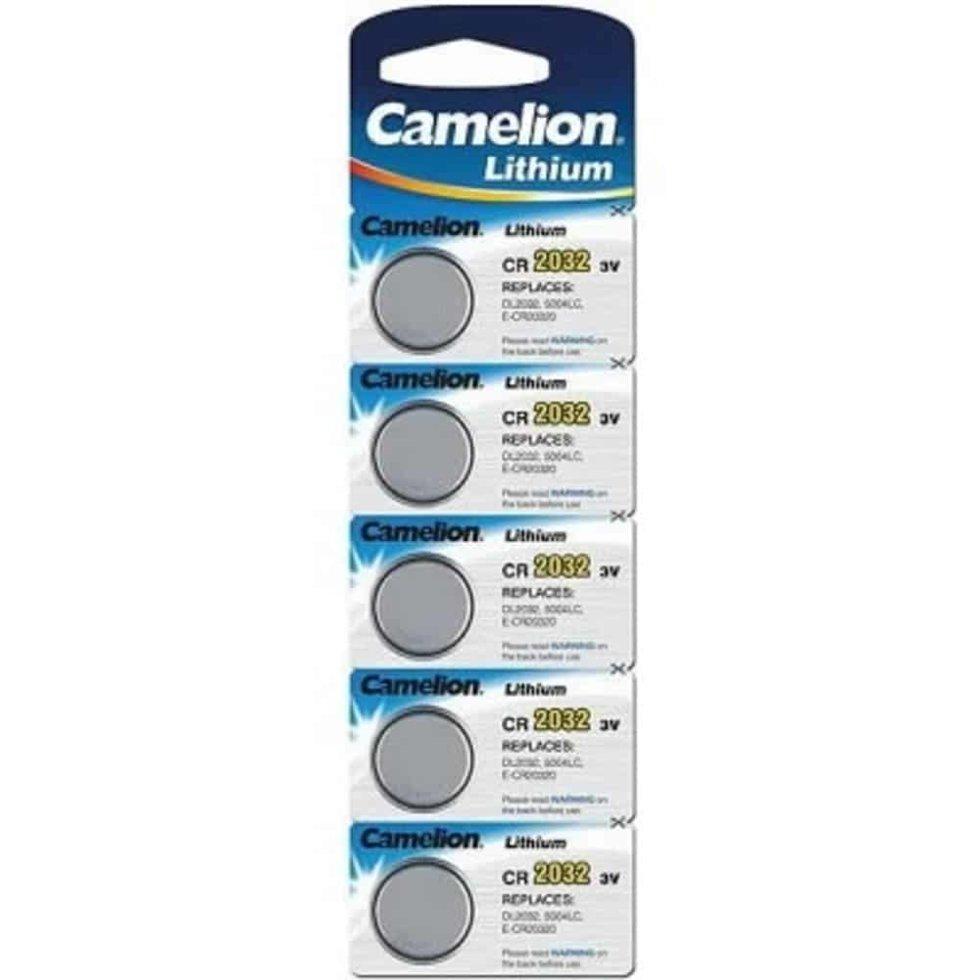 Батарейка Camelion CR2032-BP5 Lithium Battery 3V, 220 mAh (5 шт.)