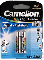 Батарейка Camelion AAA LR03-BP2DG, Digi Alkaline, 1.5V, 1250mAh (2 шт.)