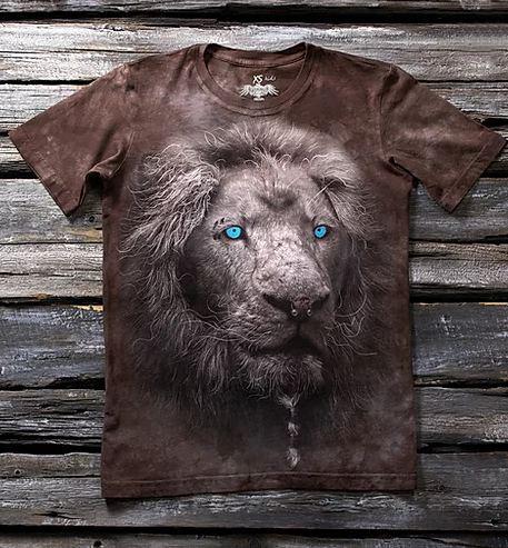 Детская футболка с рисунком «Белый лев» в Алматы