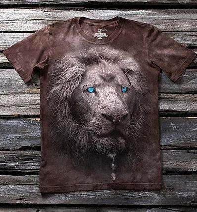 Детская футболка с рисунком «Белый лев» в Алматы, фото 2