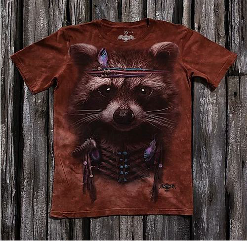 Детская футболка с принтом 3D «Енот» в Алматы
