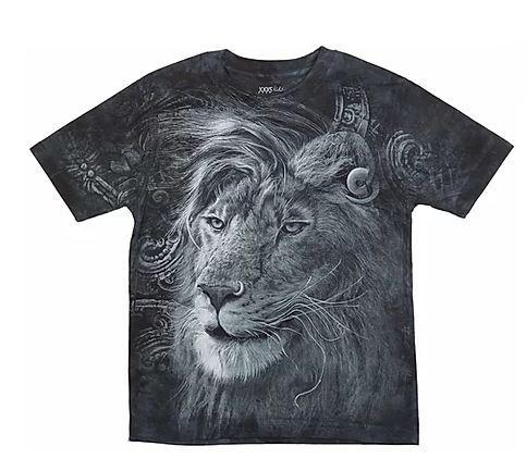 Детская футболка для мальчиков «Лев брутальный» в Алматы