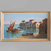 «Старый порт в Провансе.» Огромная картина.