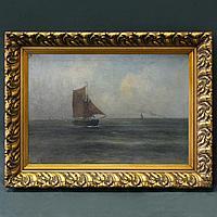 «Парусник в море» Автор: Romain Steppe(1859-1927)