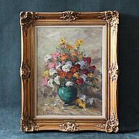 Натюрморт с цветами в вазе» Автор: Jean Jagues Foulon (1923-1980)