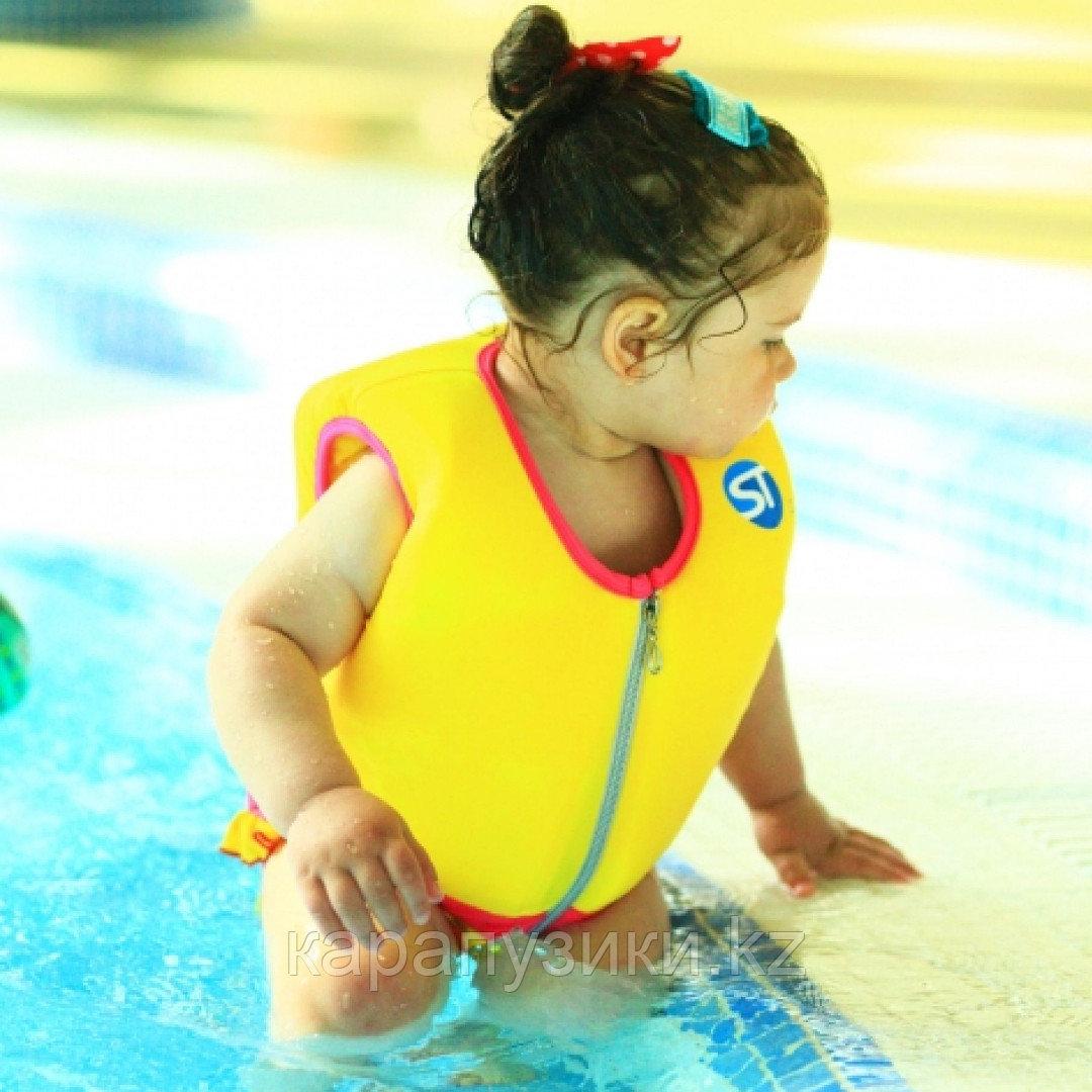 Детский жилет для плавания желтый с розовым