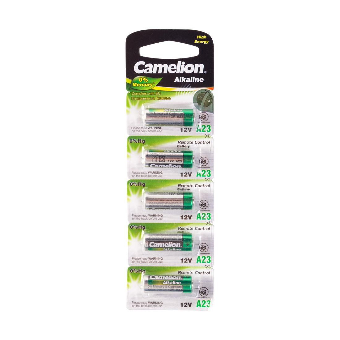 Батарейка CAMELION A23-BP5 12V 0% Hg (0% Ртути) 5 шт. в Блистере