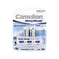 Аккумулятор CAMELION NH-AA2300ARBP2 AlwaysReady Rechargeable AA 1.2V 2300 mAh 2 шт. Блистер
