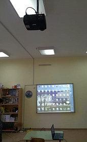 Монтаж проектора, интерактивной доски, проекционного экрана  в школах, детских садах, вузах 11
