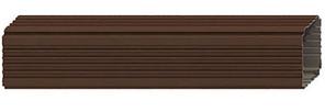 Труба водосточная  76x102x2000 мм Коричневый Металлический прямоугольного сечения  ПЭ Ral 8017