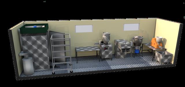 Модульный колбасный цех до 200 кг в смену