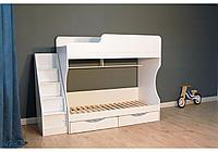 Фунционал+Цена!!! Двухъярусная кровать Капризун 443 белая