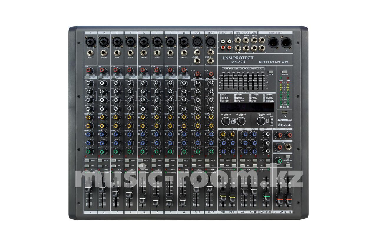 Профессиональная микшерная консоль LNM Protech MX82U