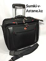 Деловой кейс-пилот Wenger на 2-х колесах,с сумкой под ноубук.Высота 36 см,ширина 42 см,глубина 25 см., фото 1