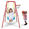 Качеля детская с баскетбольным кольцом 2 в 1