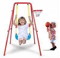 Качеля детская с баскетбольным кольцом 2 в 1, фото 1