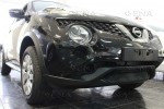 Защита радиатора  Nissan Juke 2014- black низ, фото 2