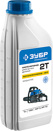 Масло ЗУБР, для 2-х тактных двигателей,полусинт.(-30С),соотнош. бензин-масло 50:1, класс API TC, M/ (ЗМД-2Т-П), фото 2
