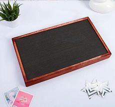 Столик складной деревянный для завтрака «Утро доброе» (Красное дерево), фото 3