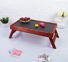 Столик складной деревянный для завтрака «Утро доброе» (Липа), фото 2