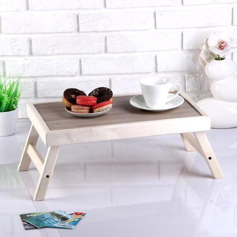 Столик складной деревянный для завтрака «Утро доброе» (Венге)