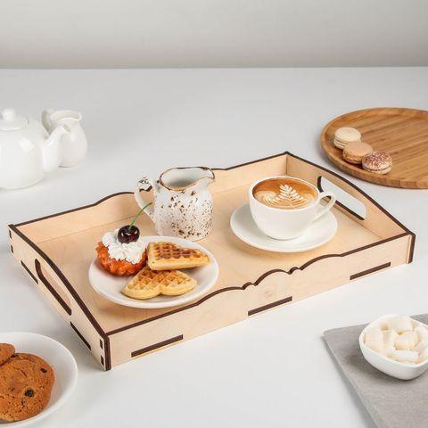 Столик-поднос  с ручками «Завтрак для двоих»