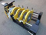 Механический редукторный сварочный аппарат c манометром  для стыковой пайки ПВХ труб от 63 до 160мм, фото 6