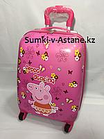 Детский чемодан на колесах для девочек,с 4-х до 7-и лет.Высота 45 см,длина 30 см, ширина 21 см., фото 1