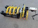 Механический редукторный сварочный аппарат c манометром  для стыковой пайки ПВХ труб от 63 до 200мм, фото 3