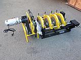 Механический редукторный сварочный аппарат c манометром  для стыковой пайки ПВХ труб от 63 до 200мм, фото 4