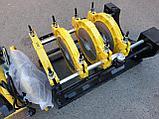 Механический редукторный сварочный аппарат c манометром  для стыковой пайки ПВХ труб от 63 до 200мм, фото 5