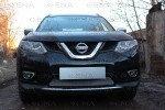 Защита радиатора Nissan X-Trail T32 2015- chrome низ, фото 2