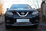 Защита радиатора Nissan X-Trail T32 2015- chrome низ