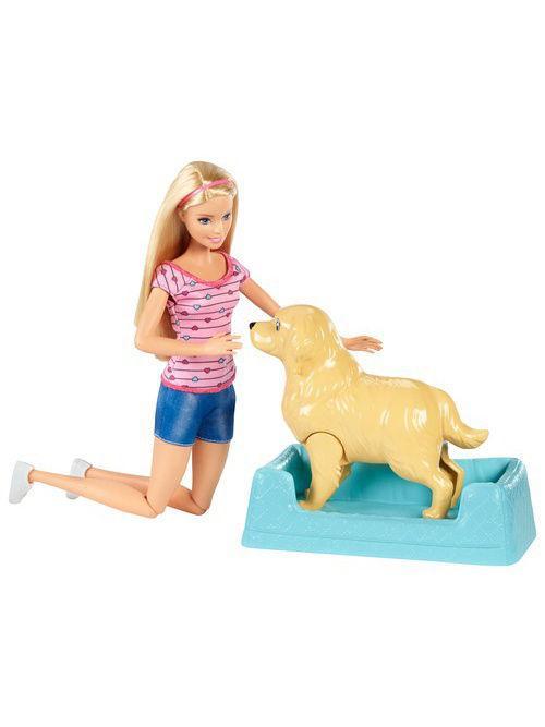 Игровой набор Barbie «Кукла и собака с новорожденными щенками»