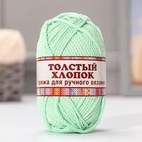 Пряжа 'Толстый хлопок' 100 хлопок 95м/100гр (026 салат)