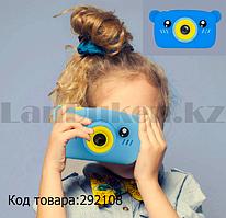Детский цифровой фотоаппарат фото и видеосъемка чехол встроенные игры синий