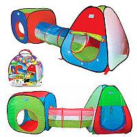 Детская палатка с тоннелем + 200 шаров, фото 1