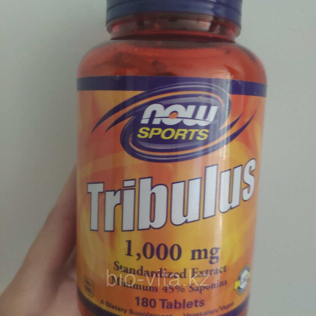 Now Foods, Трибулус, 1000 мг, 180 таблеток.