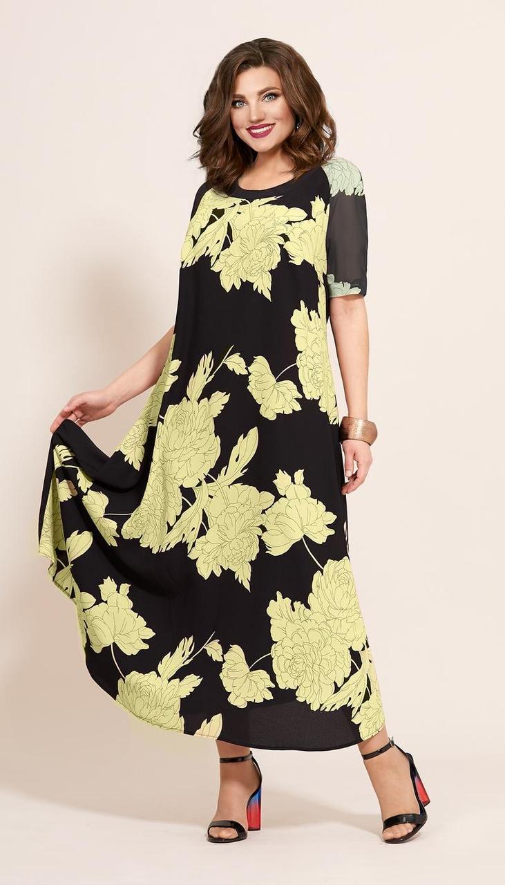 Платье Мублиз-359/3, лимон, 52