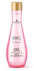 Schwarzkopf Bonacure востанавливающее масло Oil Miracle. Rose Oil Hair & Scalp Treatment (Роза), 100 мл.
