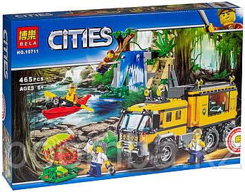 """Конструктор BELA 10711 City """"Передвижная лаборатория в джунглях"""" (аналог LEGO 60160)"""