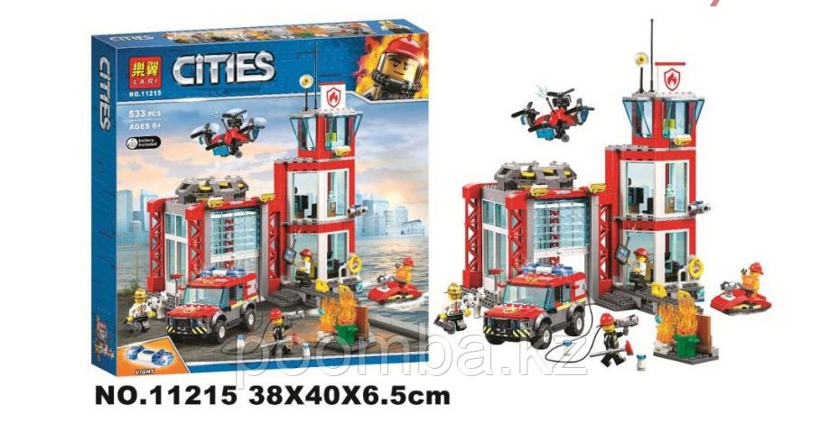"""Конструктор BELA 11215 City """" Пожарное депо"""" (аналог LEGO 60215)"""