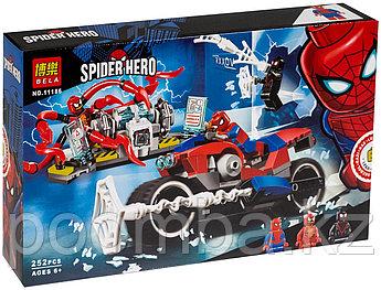 """Конструктор BELA 11186 Человек-Паук """"Спасательная операция на мотоциклах"""" (аналог LEGO 76113)"""